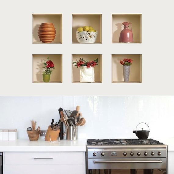 livraison gratuite nouveau set 6 wall sticker 3d art magic. Black Bedroom Furniture Sets. Home Design Ideas