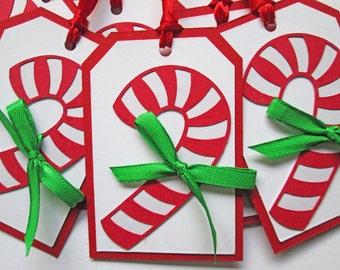 Candy Cane Christmas Gift Tags, Christmas Tags, Christmas Favor Tags, Christmas Hang Tags, Holiday Gift Tags, Candy Cane Gift Tags