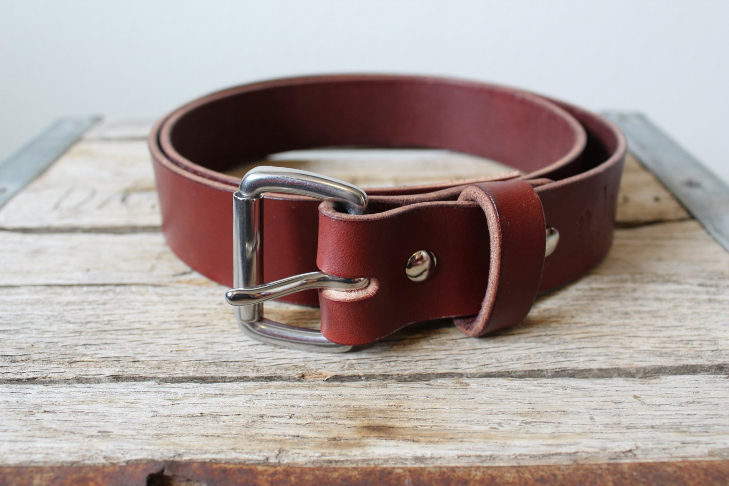 chestnut leather belt made in the usa hermann oak leather