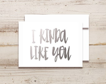 I KINDA Like You