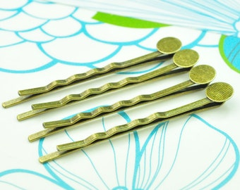 Special Sale 55mm-50PCS Antique Bronze Bobby Pins with 8m Pad-Hair barette DIY