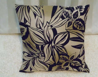 18x18 inch  Tan and Black  Pillow Cover