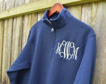 Monogram Quarter Zip, Monogram Fleece Pullover, Monogram Sweatshirt, Monogrammed 1/4 Zip Sweatshirt  Personalized Sorority Fleece