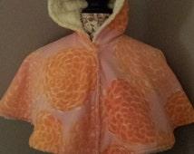 SALE! ready to ship! size 1 fleece riding poncho car seat poncho