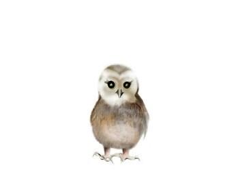 Animal Nursery Painting, Owl Nursery Art, Baby Animal, Bird Nursery, Baby Wall Decor, Animal Print, Woodland Animal, Forest Nursery