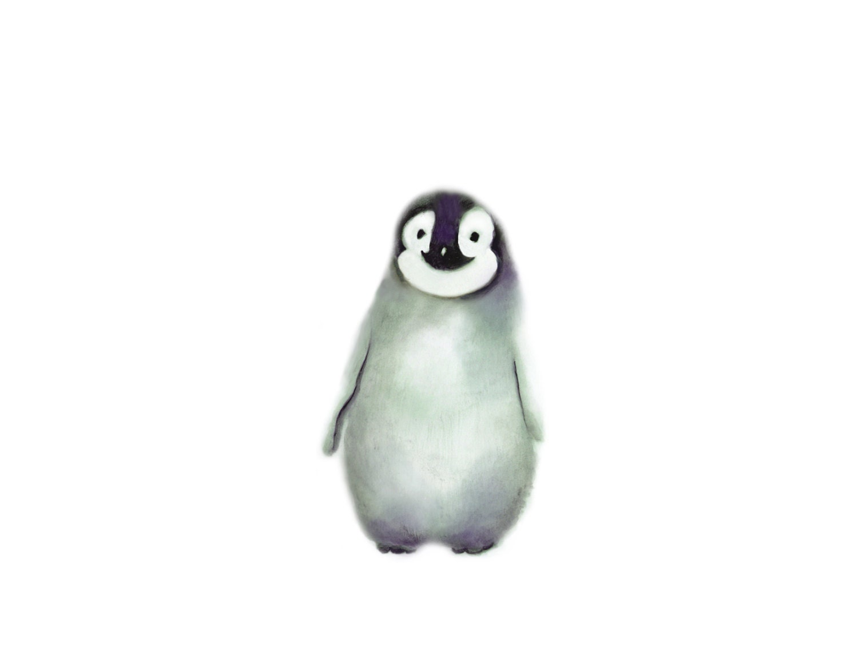Penguin Art Baby Animal Painting Arctic Animal Print Baby