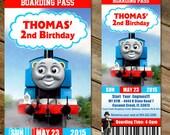 Thomas the Train Ticket Invitation, Thomas Birthday Party Invitation, Thomas Ticket Invites, 4 Tickets Invitations Digital File