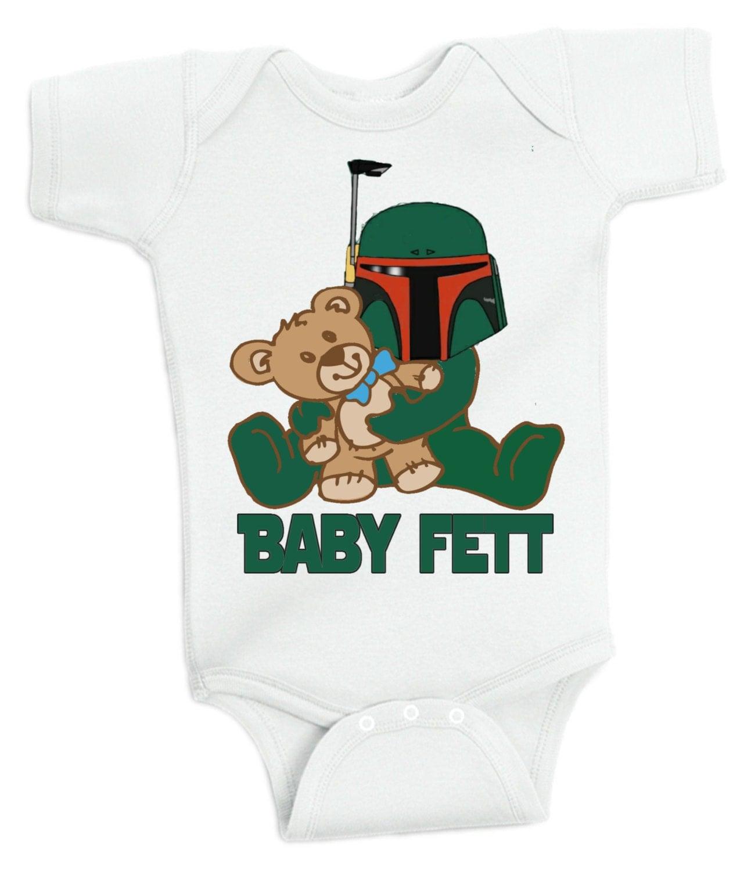Nerdy Baby Gifts Uk : Baby fett bodysuit jedi master geek nerd geeky new shower