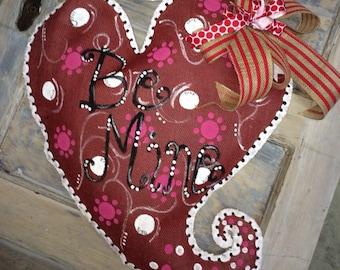 Valentine Burlap Door Hanger