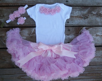 Birthday outfit. Baby girl first birthday outfit. Pink Baby girl birthday Tutu set. 2nd Birthday tutu outfit. 1st birthday tutu.