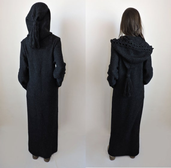 Extra long womens sweaters Hooded cardigan women Duster coat