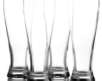 Monogrammed Beer Glasses- Set of 4