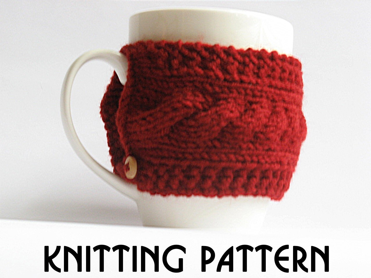 Knit Koozie Pattern : Cozy knit pattern pdf knit pattern coffee cozy pattern