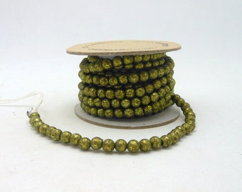 Aged Green Bead Garland - 6 ft.