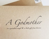 CARD- Customized Godparent Card / Will you be my Godparent?