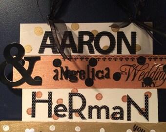 personalized wedding gift, customized wedding sign, bride and groom gift, personalized bride and groom gift, personalized monogrammed gift