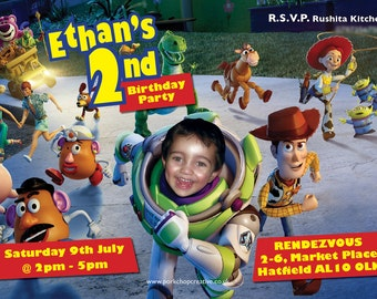 Unique Photo Personalised | Toy Story Party Invitations [DIGITAL FILE ONLY]