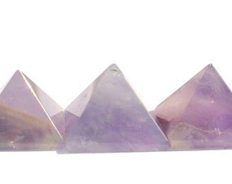 Amethyst Crystal Pyramids Set of 5 Chakra Crystal Pyramids Crystal Healing Stones Reiki Stones