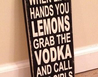 Grab The Vodka - wood wall art