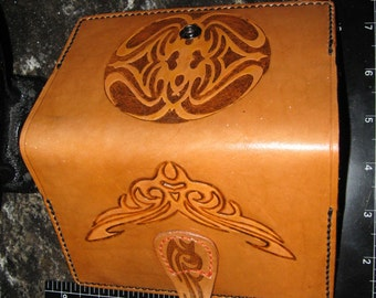 Leather Moleskine Cover (9x14cm Notebook) with Tribal Carving