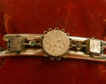 REDUCED - Victorian gold filled bracelet