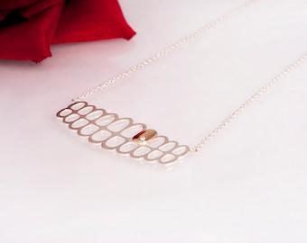 Silver Smile Necklace // Los Dias // Gold Tooth // Dia De los Muertos Necklace // Gift For Her // Zilver met Gouden Tand Ketting