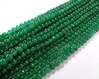 6mm Natural Green Jade Bead Strands
