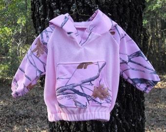 Baby girl True Timber Pink Snow light weight hoodie!
