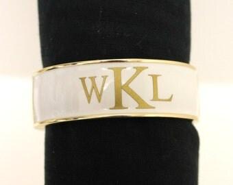 Monogram Enamel Bangle Bracelet