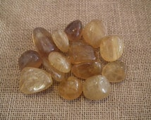Yellow Fluorite Tumblestone Crystal Tumbled Stone- Healing Therapy Semi Precious Stones Wire Wrapping Jewellery Jewelry Natural Pagan Wiccan