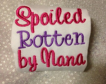 Embroidered Baby Bodysuit One Piece - Spoiled Rotten by Nana