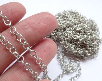 4M Chains Findings Silver Tone 3x4mm - CHN15S