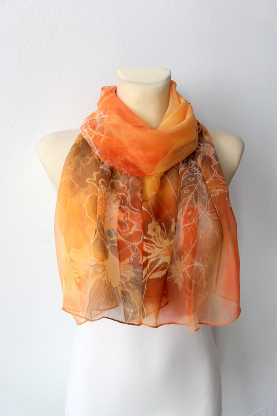 unique womens scarf chiffon silk scarf light by locotrends