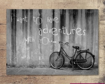 Adventures with you, Printable Wall Art, Printable quotes, Inspirational quote, Instant Download