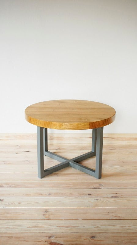 Table Coffee Table Unique Round Industrial Series