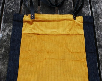Corduroy/ Denim Tote Bag
