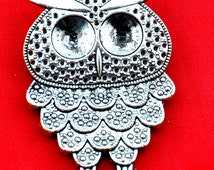 36x50mm---4pcs Antique Silver Owl Charm Pendants,DIY Accessory Jewelry Making------G1320