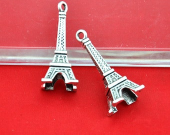8pcs Antique Silver Large Eiffel Tower Charm Pendants 16x40mm,DIY Accessory Jewelry Making------G1606