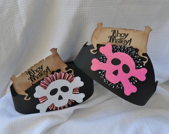 Pirate party hats (set of 6)