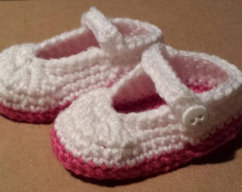 Crochet Mary Jane Booties