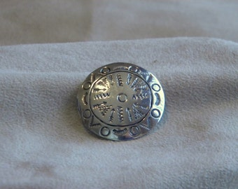 Sterling Silver Mexican Stamped Pin