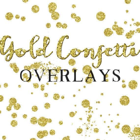 gold confetti overlay clipart glitter confetti clipart