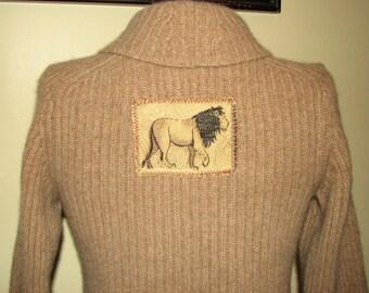 Cashmere Cardigan / Sweater - Lion Cardigan - Repurposed Cashmere Cardigan / Sweater