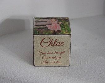 Chloe  Wooden Block . Personalized Wooben Block . Teen Gift Block .