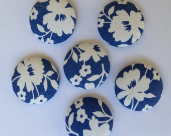 Large fabric-covered buttons- 6 pack