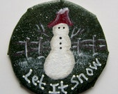 Collectible Snowman Christmas Ornament Made From Recycled Materials