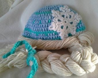 Elsa Inspired Little Girl's Hat with Braid