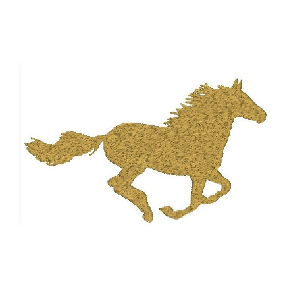 horse running embroidery design 3 sizes
