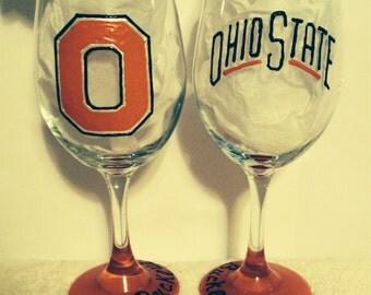 Ohio State Buckeyes Wine Glass