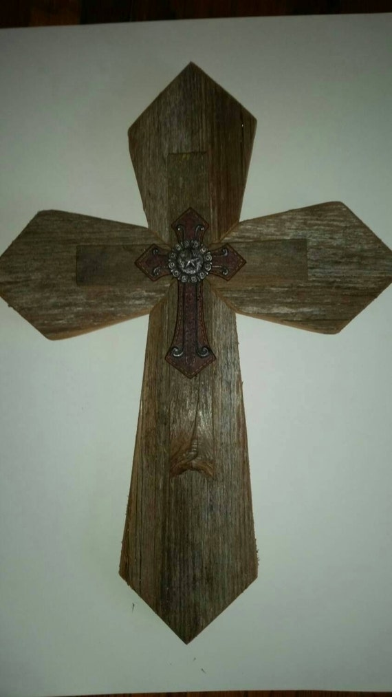 Western Wood Wall Decor : Unique western style sale rustic cedar wood wall cross decor